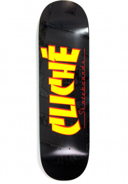 Cliché Skateboard Decks Banco black-yellow Vorderansicht