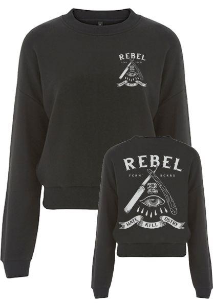 Rebel Rockers Sweatshirts und Pullover Cropsweat HKD black vorderansicht 0422866