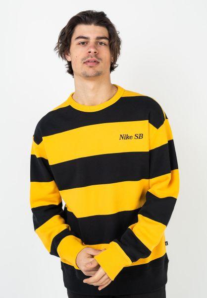 Nike SB Sweatshirts und Pullover Stripes universitygold-black-black vorderansicht 0422916