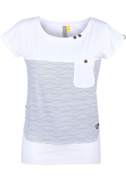 alife and kickin T-Shirts Cora B cloudy-stripes vorderansicht 0399915
