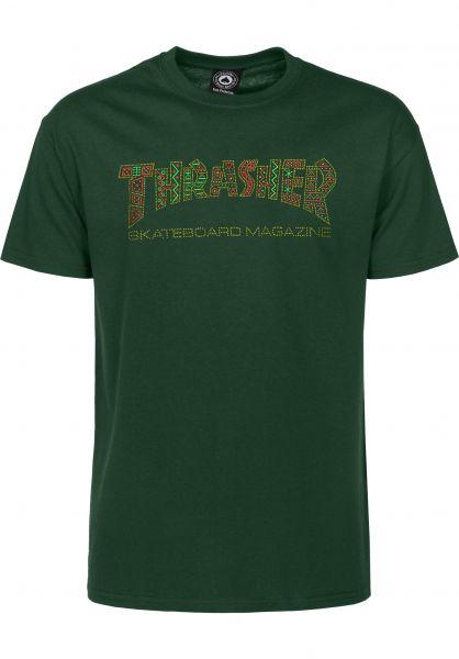 Thrasher T-Shirts Davis forestgreen Vorderansicht