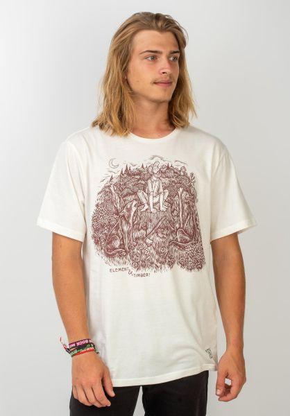 Element T-Shirts Timber Howl offwhite vorderansicht 0396351