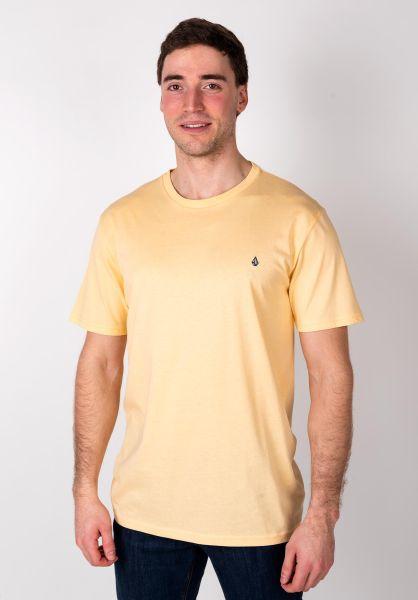 Volcom T-Shirts Stone Blank lightpeach vorderansicht 0399831