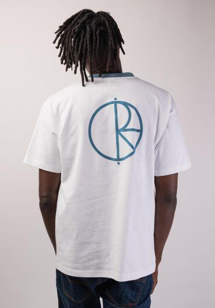 Polar Skate Co T-Shirts Offside white-grey-blue vorderansicht 0399787