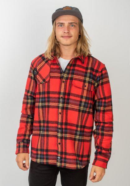 Dickies Hemden langarm Prestonburg red vorderansicht 0411922