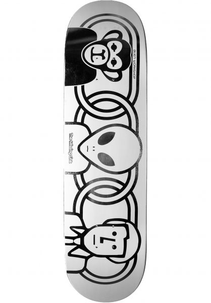 Alien-Workshop Skateboard Decks Missing Link 3D Foil silver-black vorderansicht 0262803