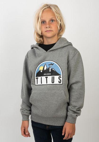TITUS Hoodies Explorer Kids greymottled vorderansicht 0445315