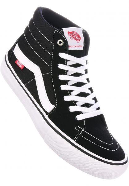 Vans Alle Schuhe Sk8 Hi Pro black-white Vorderansicht 1ca6e45b7bca