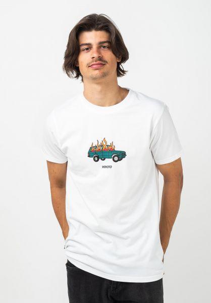 Wemoto T-Shirts Burn white vorderansicht 0322090