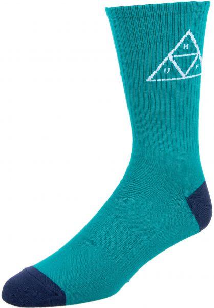 HUF Socken Triple Triangle Crew deepjungle vorderansicht 0631238