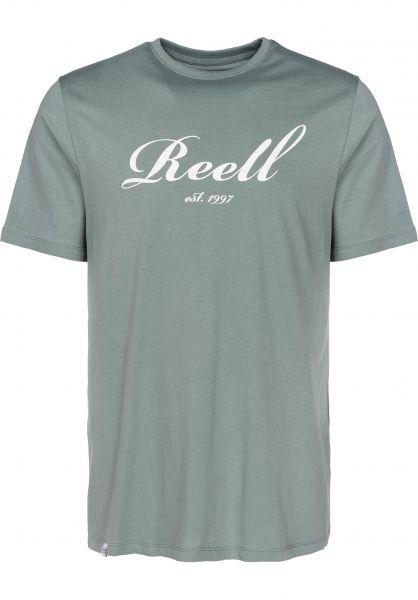Reell T-Shirts Big Script lightgreen Vorderansicht