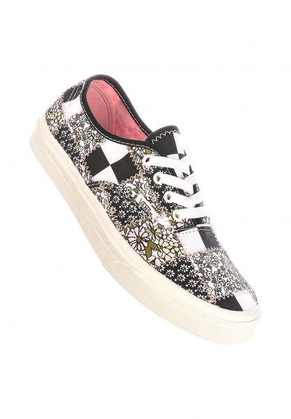 Vans Alle Schuhe Authentic patchwork-floral-multi-marshmallow vorderansicht 0611322