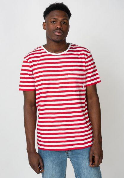 Makia T-Shirts Verkstad red-white vorderansicht 0396215