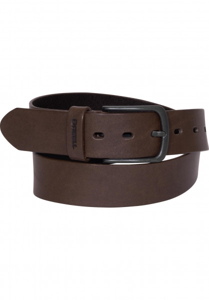 Reell Gürtel All Black Buckle brown Vorderansicht