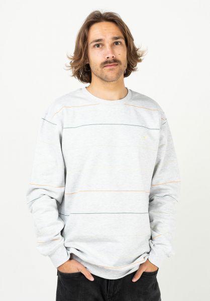 Cleptomanicx Sweatshirts und Pullover Multi Stripe lightheathergrey-lemonmeringue vorderansicht 0423090
