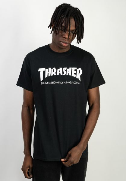 Thrasher T-Shirts Skate-Mag black vorderansicht 0038081
