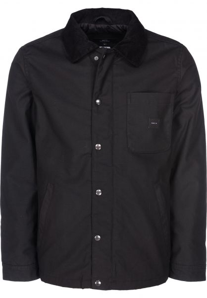 Makia Winterjacken Lined Chore Jacket black vorderansicht 0250056