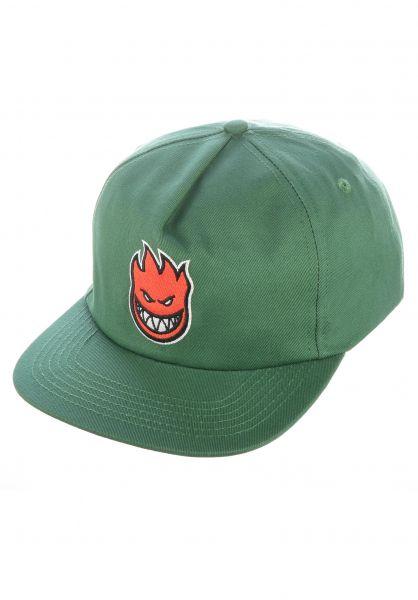 Spitfire Caps Lil Bighead Fill darkgreen-red vorderansicht 0566225