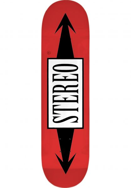 Stereo Skateboard Decks Arrows Standard red Vorderansicht