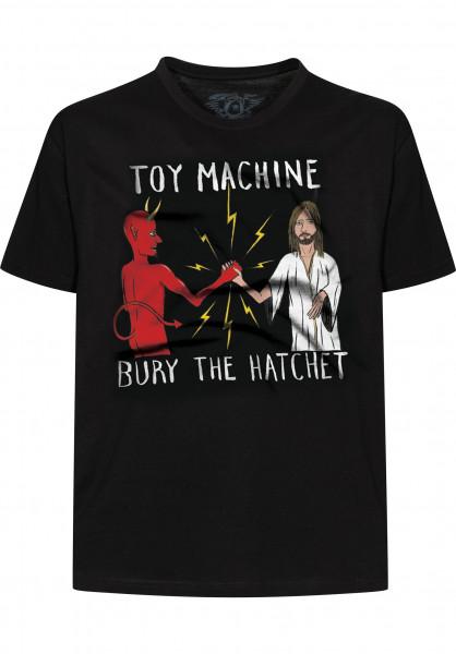 Toy-Machine T-Shirts Bury the Hatchet II black Vorderansicht