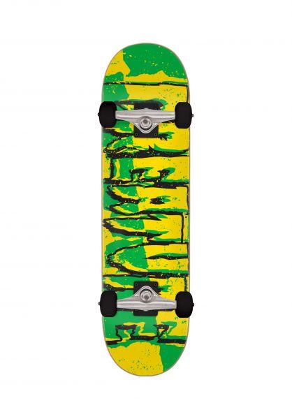 Creature Kinder Skateboard komplett Ripped Logo Micro yellow-green vorderansicht 0162501