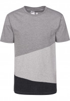 Rules T-Shirts Colorblockx greymottled-heathergrey-darkgreymottled Vorderansicht