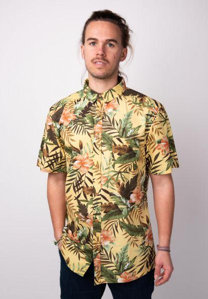 TITUS Hemden kurzarm Tropical AO yellow-pattern vorderansicht 0400829