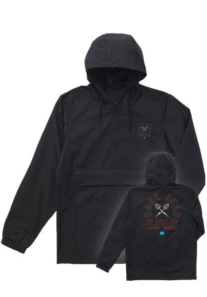 Dark Seas Übergangsjacken Quartermaster Anorak black vorderansicht 0122349