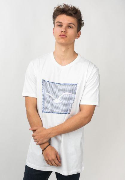 Cleptomanicx T-Shirts Nett Möwe white vorderansicht 0320655
