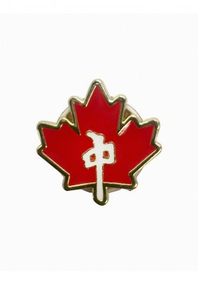 Red-Dragon Maple Leaf Pin