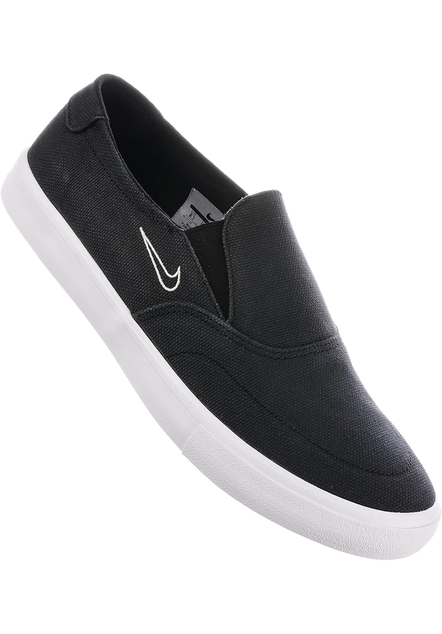 Solarsoft Portmore II Slip On Nike SB All Shoes in black-lightbone for Men   23b7e8614