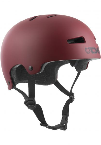 TSG Helme Evolution Kids Solid Color satin oxblood Vorderansicht