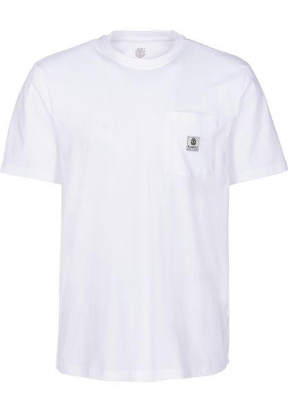 Element T-Shirts Basic Pocket Label opticwhite vorderansicht 0398847