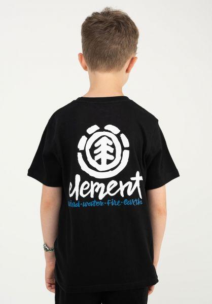 Element T-Shirts Henke Kids flintblack vorderansicht 0323409