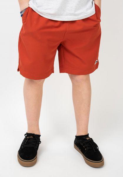 TITUS Shorts Scipt Kids burntochre vorderansicht 0551924