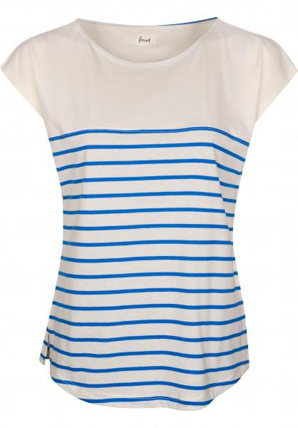 Forvert T-Shirts Newport beige-blue Vorderansicht
