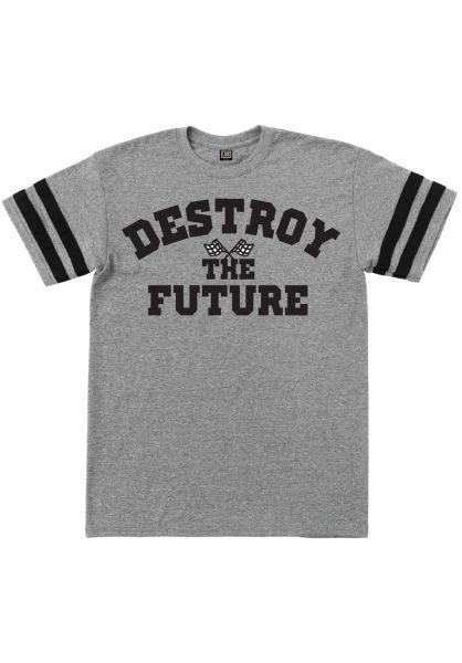 Loser-Machine T-Shirts Starting Line Two Stripe Jersey graphiteheather-black vorderansicht 0320830