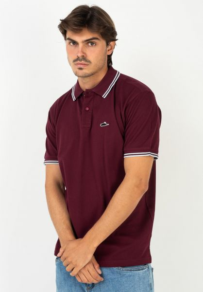 Atticus Polo-Shirts Classic Tipped burgundy-sky vorderansicht 0138418