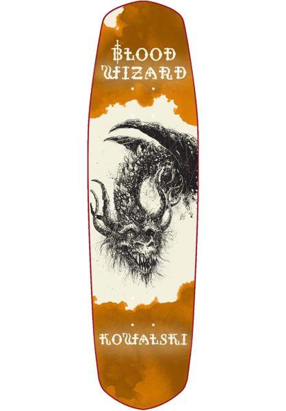 Blood Wizard Skateboard Decks Kowalski Dragon Slayer orange vorderansicht 0263600