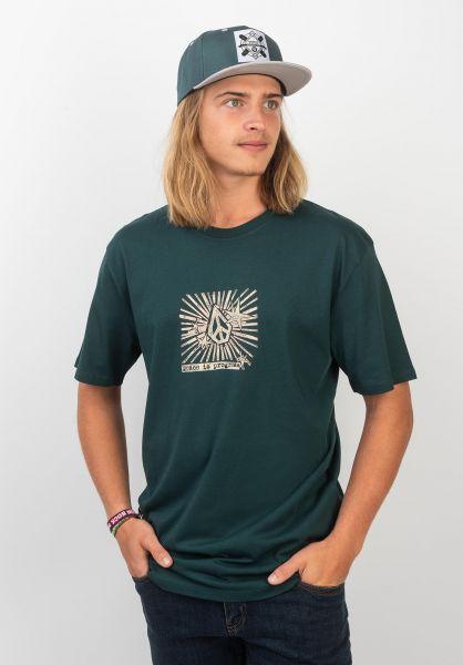 Volcom T-Shirts Prog evergreen vorderansicht 0320366