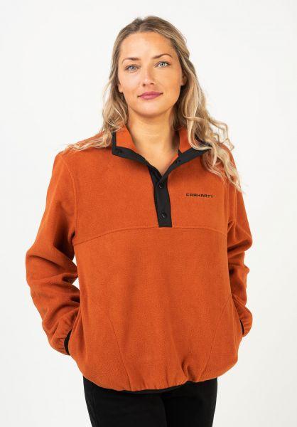 Carhartt WIP Sweatshirts und Pullover W´ Copper cinnamon-black vorderansicht 0422965