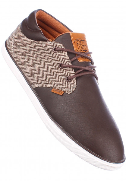 Djinns Alle Schuhe MidLau Harris Tweed brown Vorderansicht