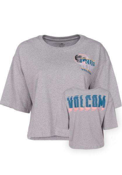 Volcom T-Shirts Super Stoned heathergrey Vorderansicht