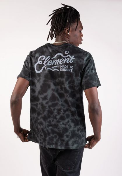 Element T-Shirts Valley flintblack vorderansicht 0399806