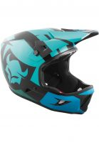 TSG Fullface-Helme Advance Graphic Design interval-green-blue Vorderansicht