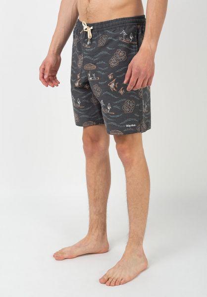 Rhythm Beachwear Weekender Beach Short vintageblack vorderansicht 0205411