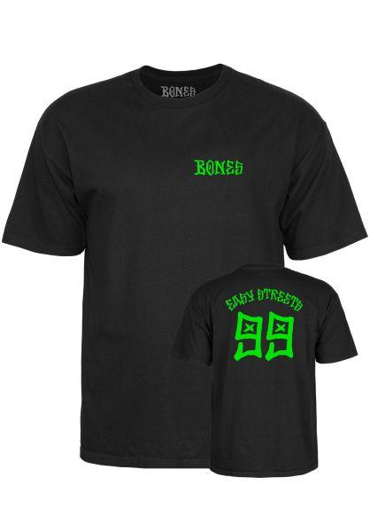 Bones Wheels T-Shirts Easy Streets black vorderansicht 0320614