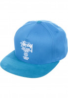 Stüssy Caps World Tour blue Vorderansicht