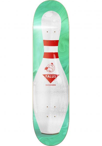 Falus Skateboard Decks Bowling Pin green-white vorderansicht 0265488