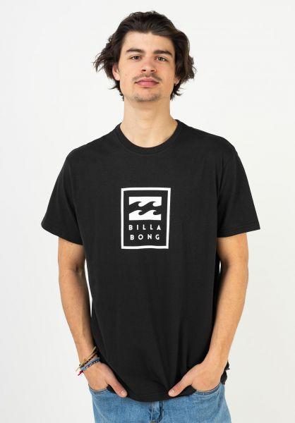 Billabong T-Shirts Unity Stacked black vorderansicht 0323773